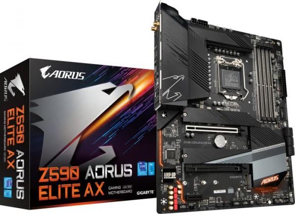 Mainboard Gigabyte Z590 AORUS ELITE AX mit Sockel LGA1200