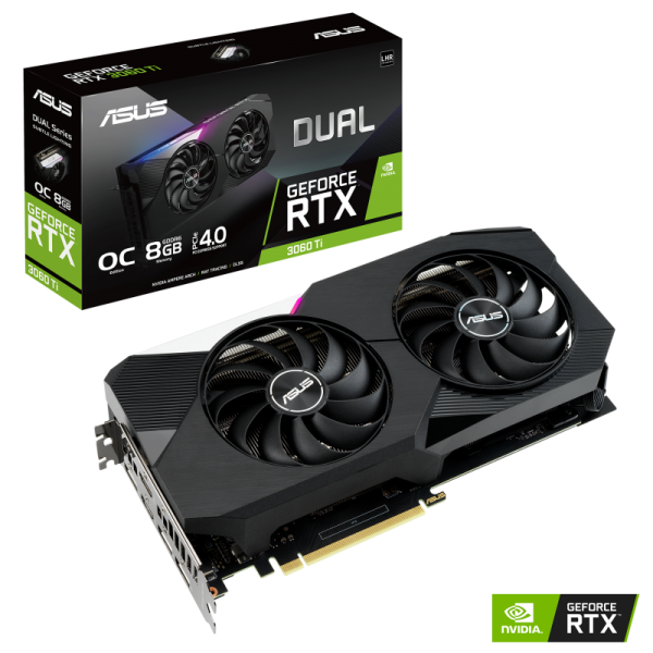 ASUS Dual GeForce RTX 3060 Ti OC V2 LHR 8GB PCIe 4.0