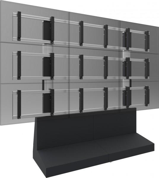 Mobile Videowand Lösung für Monitore VESA bis zu 55 Zoll 3x