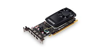 Grafikkarte PNY Quadro P1000 4GB PCI Express 16x - DVI - (Bundle)